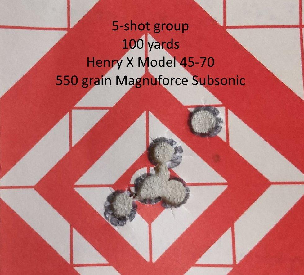 45-70 5-shot group @ 100yds