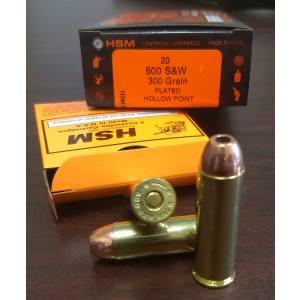 HSM 500 S&W with 300 grain Plated Hollow Point