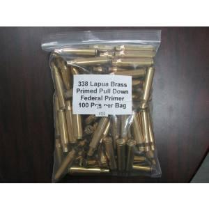338 Lapua Primed Brass